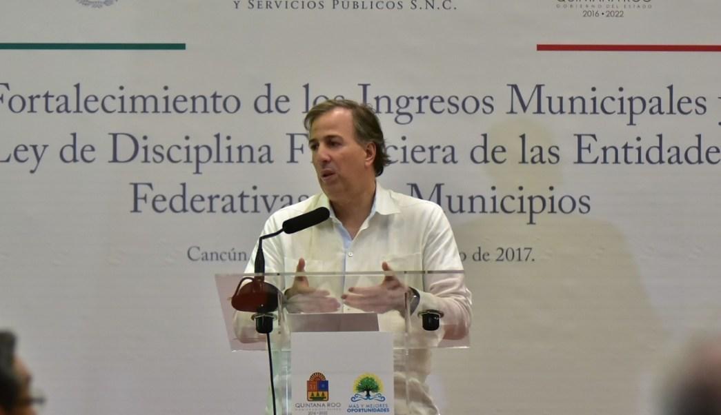 José Antonio Meade realizó una gira de trabajo en Cancún. (SHCP)