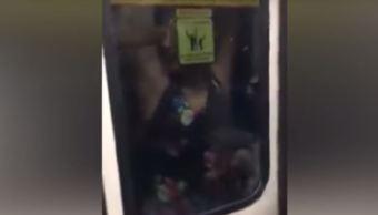Metro De Monterrey, Video viral, Redes Sociales, Mujer Monterrey, Mujer Viaja Colgada, Noticias