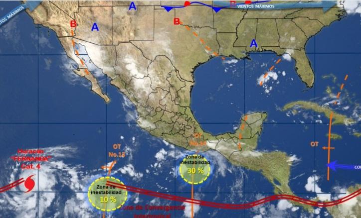 Persisten lluvias en todo el país (Twitter: @conagua_clima)