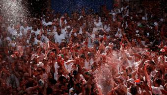 Inicia la fiesta de San Fermin en Pamplona Espana