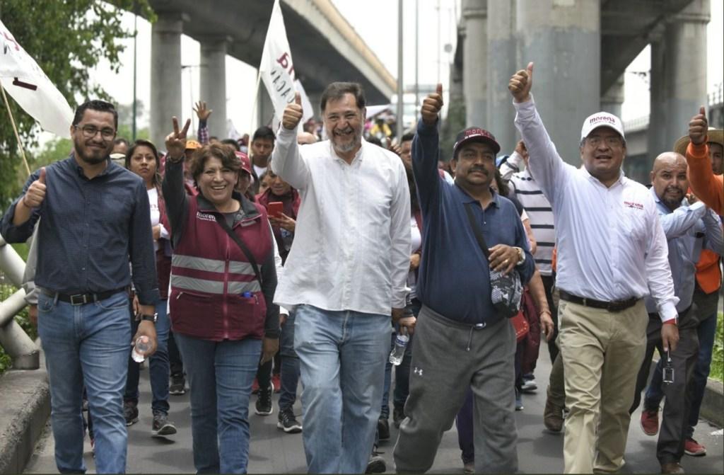 La 'Marcha de la Esperanza' llegó a San Lázaro. (Twitter Delfina Gómez)