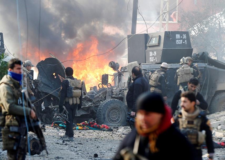 La coalición felicitó a las fuerzas iraquíes por lograr su cometido de liberar Mosul (Reuters)