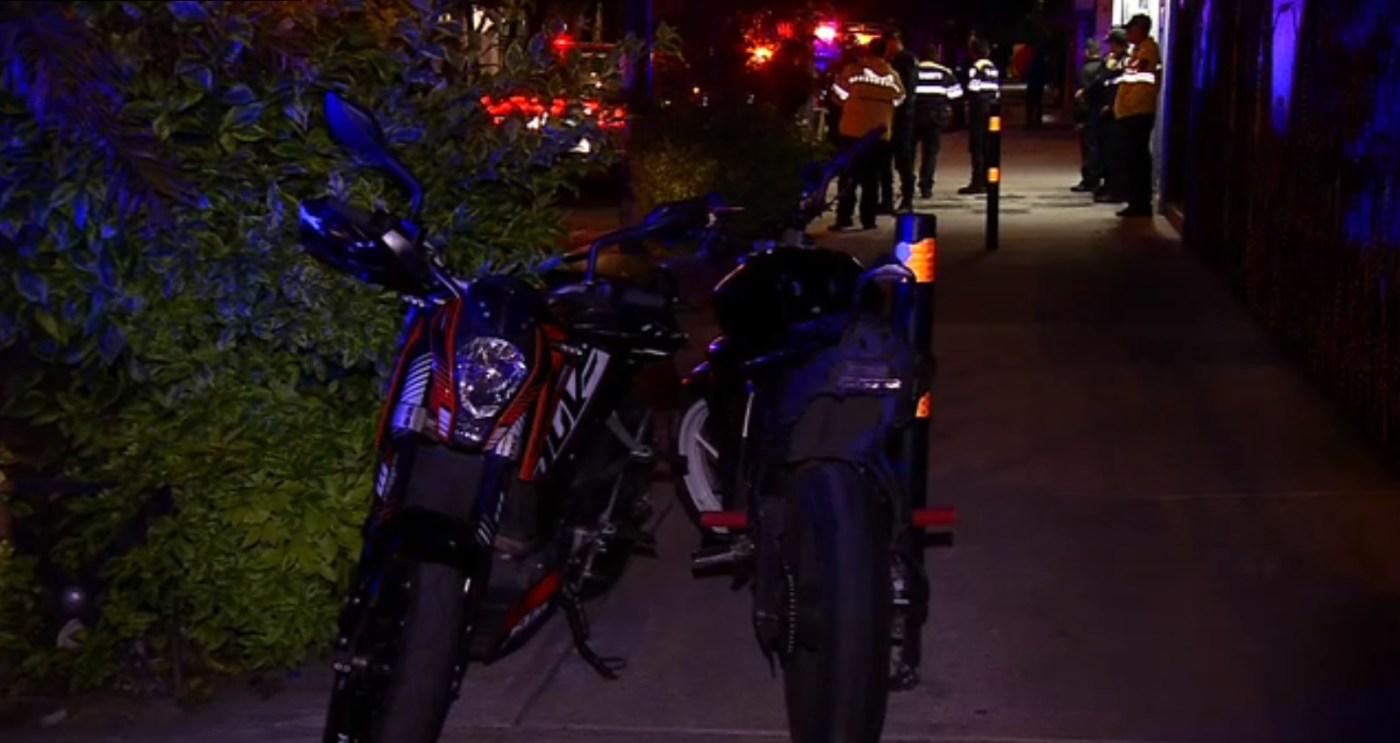 varias motocicletas son aseguradas en coyoacan