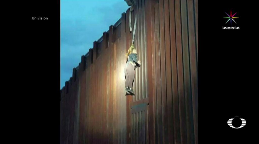 Mujer, colgada, muro fronterizo, Patrulla Fronteriza, Arizona, indocumentados, seguridad