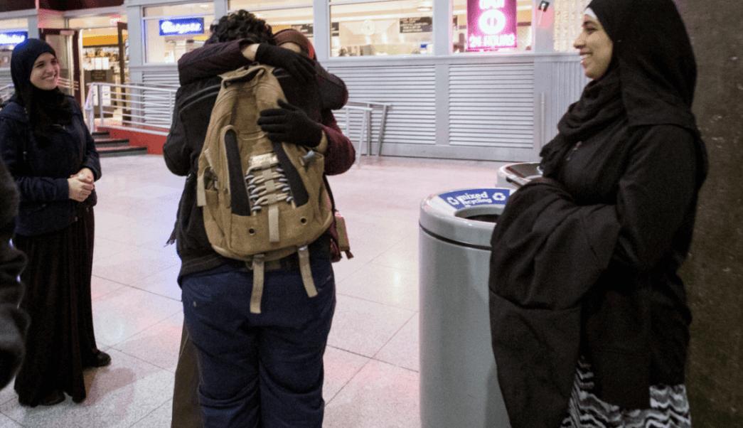 Musulmanes en el aeropuerto John F. Kennedy en Nueva York
