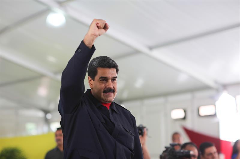 Nicolás Maduro durante un acto de gobierno en Caracas