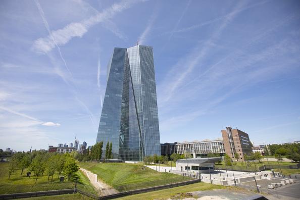 Oficinas de la sede central del BCE en Frankfurt, Alemania