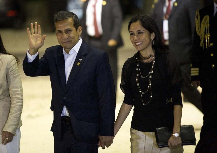 El expresidente Ollanta Humala y su esposa Nadine Heredia (Archivo/AP)