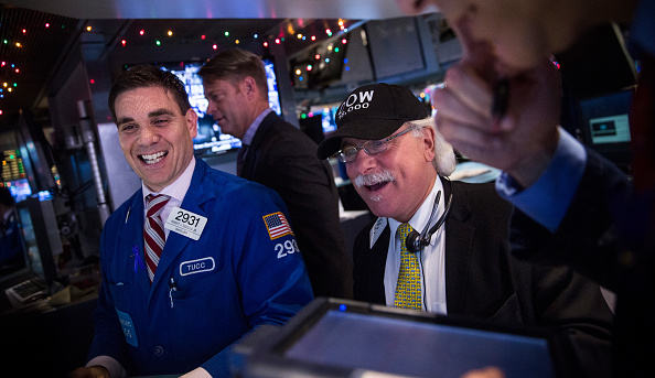 Operadores del Dow Jones en Wall Street