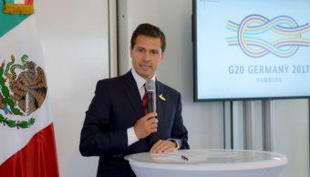 Enrique Pena Nieto, Llega, Mexico, Finalizar, Cumbre G20, Alemania