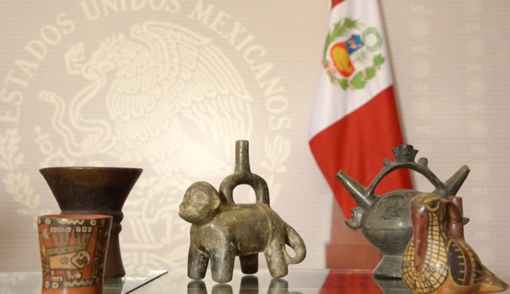 Perú recupera piezas arqueológicas. (Twitter Diego Prieto)