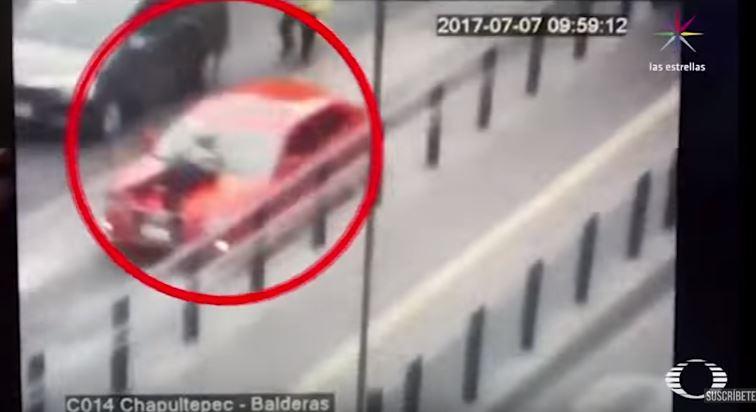 Auto Rojo, Policía Atropellado, Edgar Gutierrez, SSP, Noticias, Noticieros