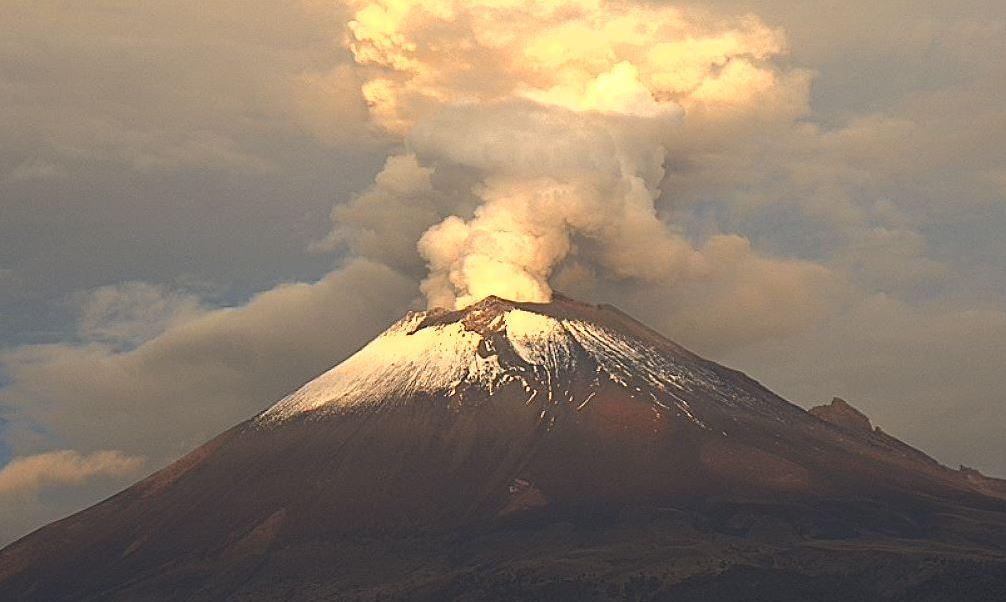 Proteccion Civil, Alerta Volcanica, Cae, Ceniza, Puebla, Volcan, Popocatepetl, Fumarola, Explosiones, Humo