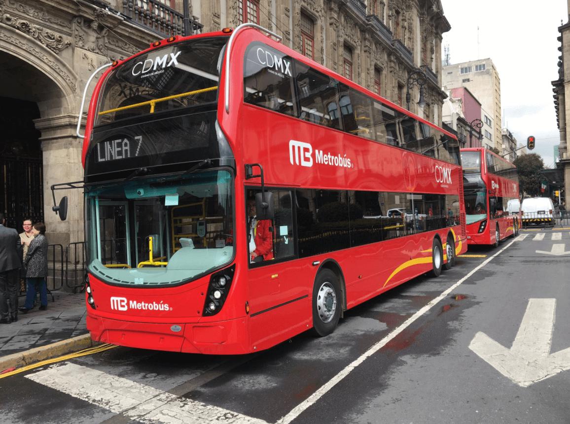 MÉXICO: Metrobuses de doble piso, al estilo Londres, ya en la CDMX