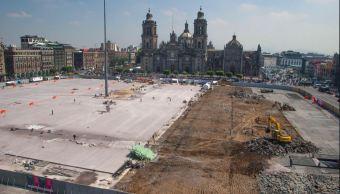 Centro Historico, Remodelacion, Zocalo, Avance, Drenaje, Agua, Lluvia, Plancha
