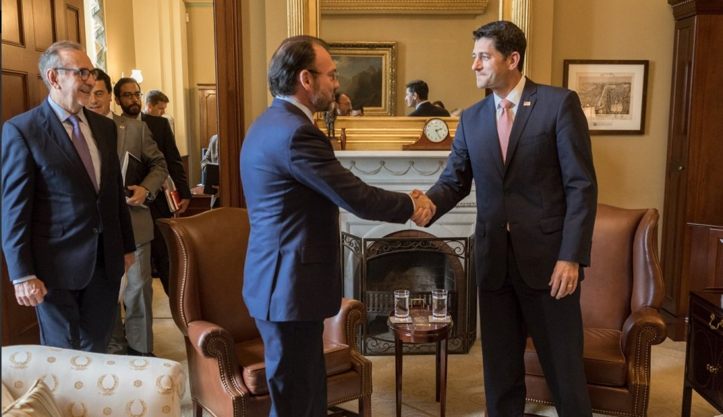 Luis Videgaray, Reunion, Mexico, Estados Unidos, Paul Ryan