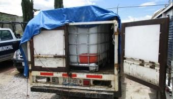 Aseguran, Combustible Robado, Texmelucan, Puebla, Robo de Combustible