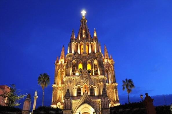 San Miguel de Allende, Guanajuato. iglesia, turismo, turístico, mexico