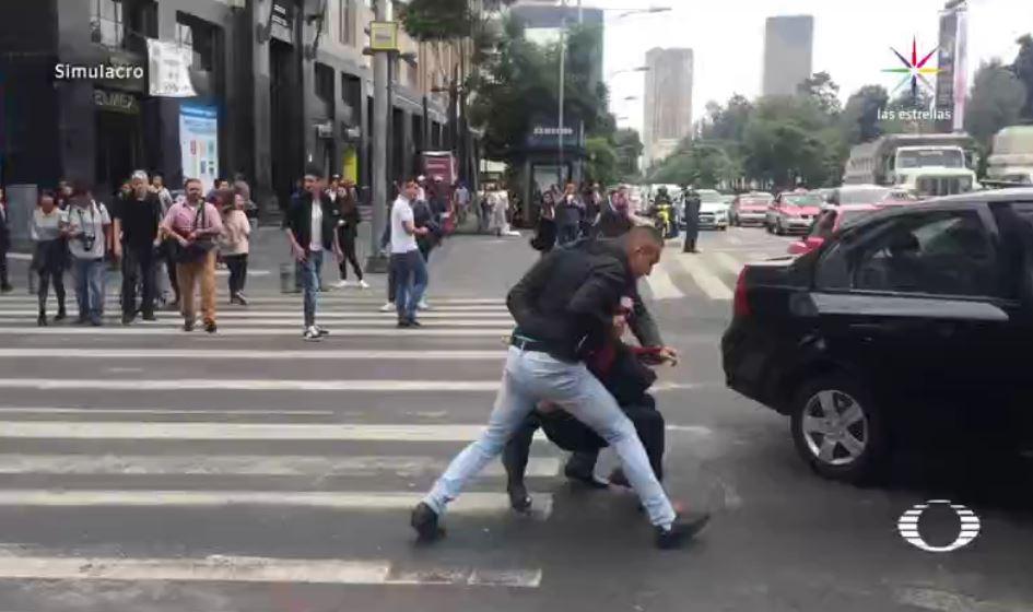 Realizan, Simulacro, Secuestro, Ciudad de Mexico, Policias, Seguridad, Isabel Miranda, SSPCDMX