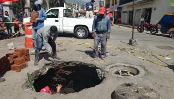 Socavon, Ecatepec, Reparacion, Santa Clara Coatitla, Vialidad