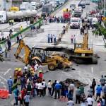 Socavon, Paso Express, Cuernavaca, Morelos, Accidente, Vialidad