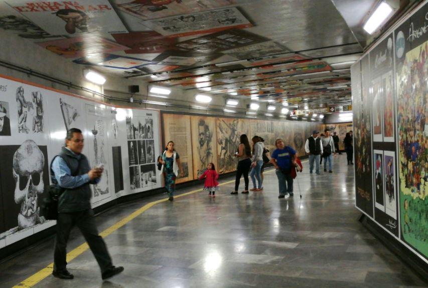 Moneros se apoderan de la estación del Metro Zapata
