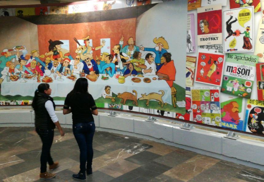 Inaugura Jefe de Gobierno estación emblemática de la caricatura mexicana
