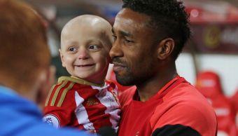 Bradley Lowery, Jermaine Defoe, futbol, Inglaterra, cáncer, Sunderland