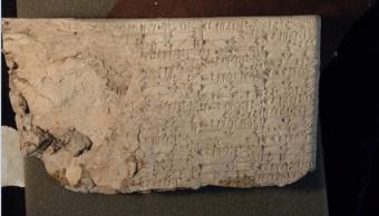Tabla de escritora cuneiforme proveniente de Irak