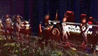 Policias de Michoacan repelen una agresion en Cotija