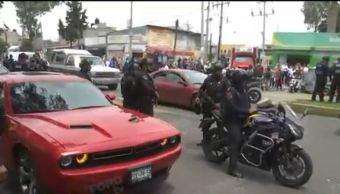 Tras darse a la fuga, detienen a tres personas a bordo de un vehículo deportivo en Tláhuac
