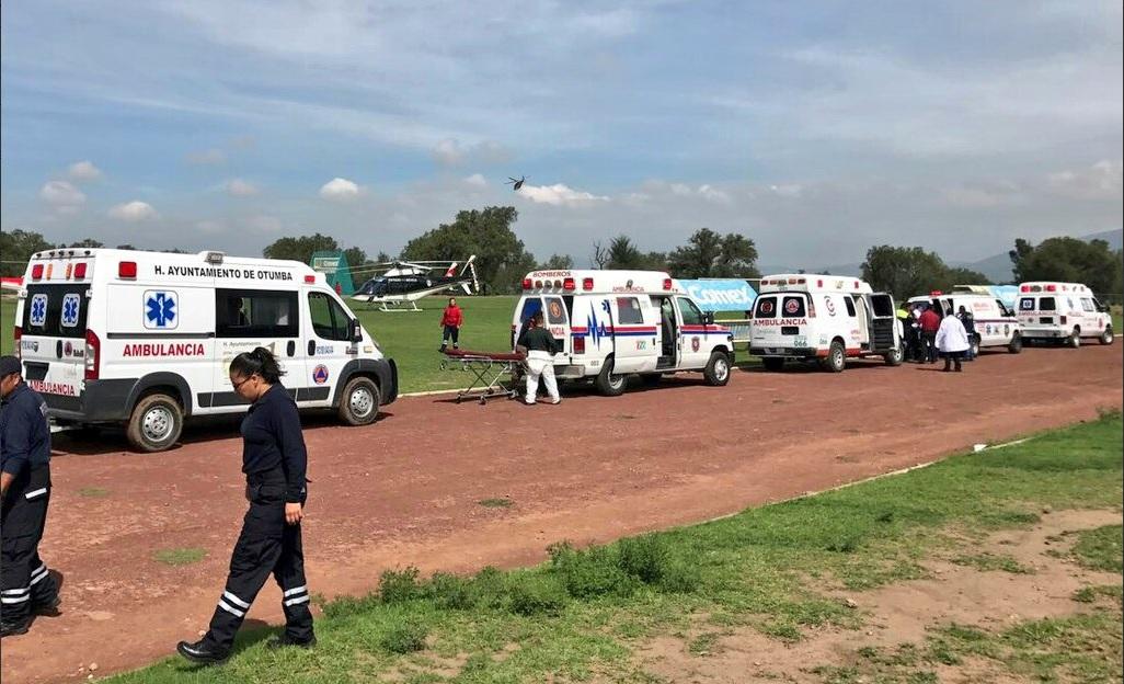Siete lesionados por enfrentamiento entre ministeriales y pobladores en Otumba