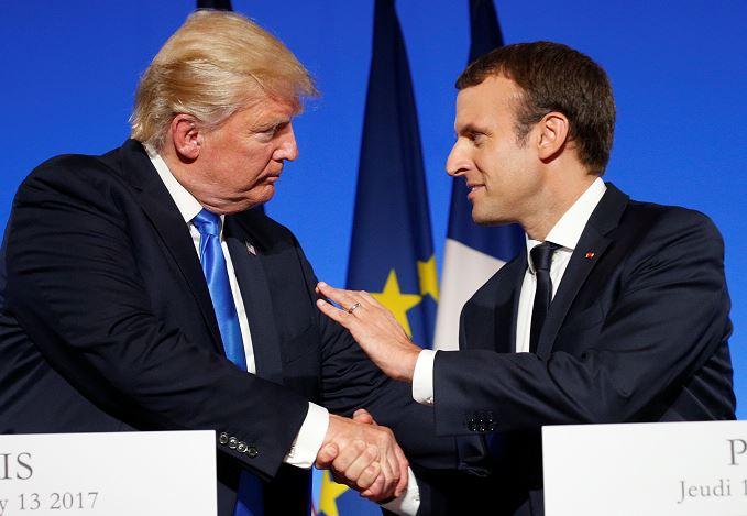Trump, Criticas, Francia, Campaña Electoral, Visita, Paris, Periodista, Emmanuel Macron