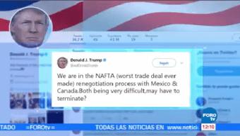 Trump Reitera Tlcan Será Renegociado Justo País