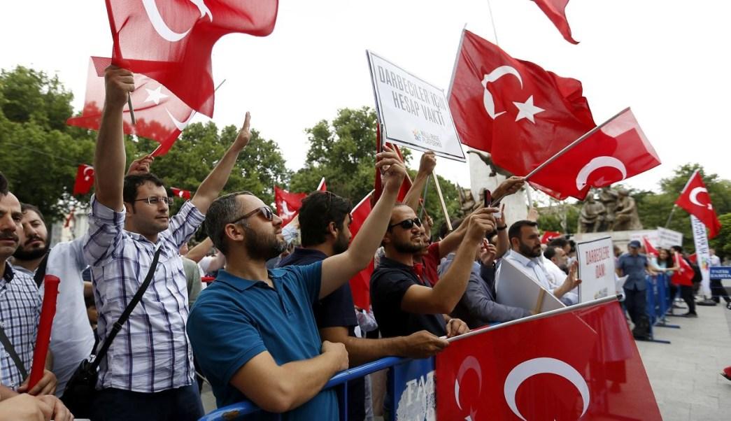 Turquia, Aniversario, Fallido, Golpe, Estado, Militar, Monumento, Muertos