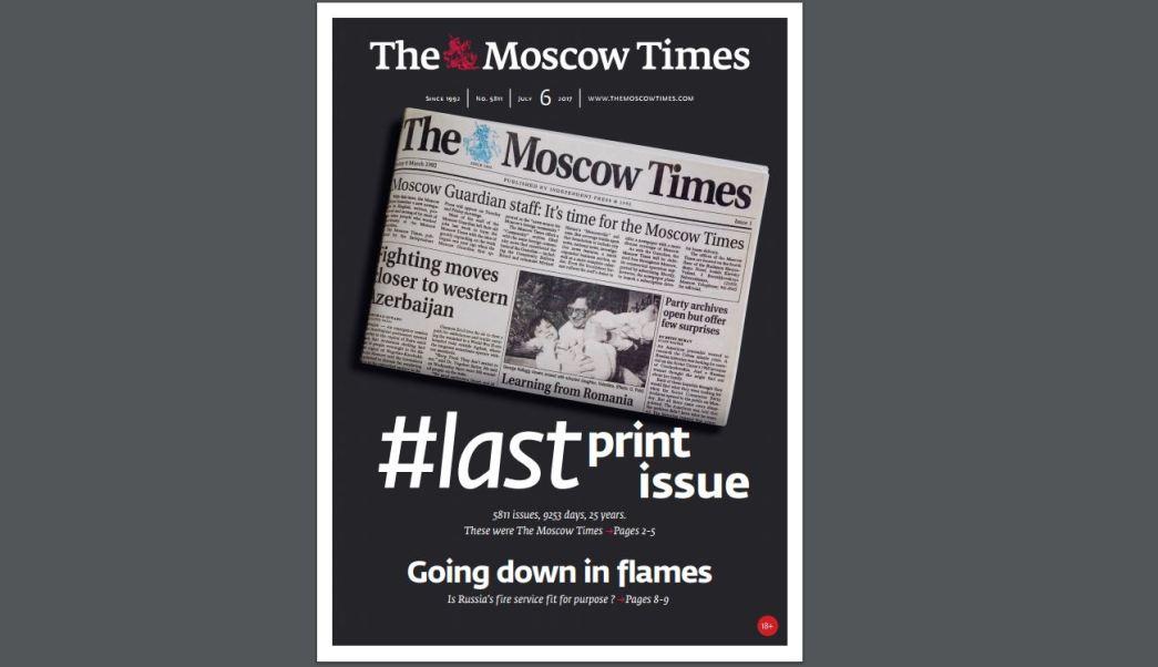 Última portada del The Moscow Times