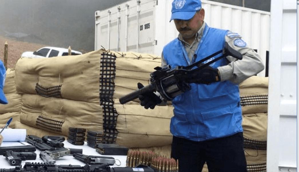 Proceso de desarme de las FARC en Colombia