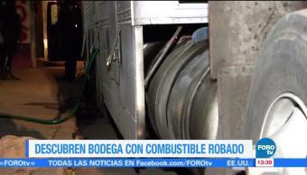 Detienen Hombres Bodega Combustible Robado Autoridades Capitalinas