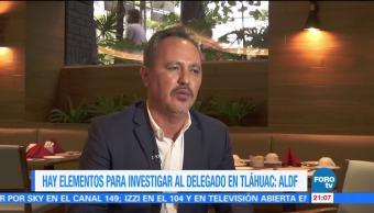 Elementos Investigar Delegado Tláhuac ALDF Rigoberto