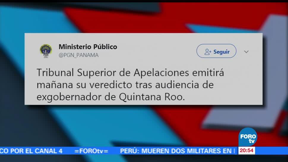 Miércoles emitirán sentencia audiencia Borge Panamá