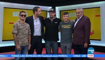 Sergio Pettis Brandon Moreno Visitan Matutino Express UFC