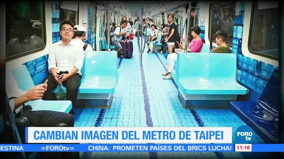 Cambian, imagen, metro, Taipéi