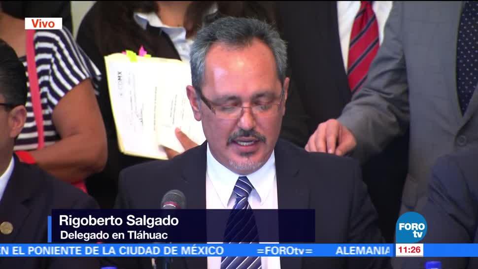 Rigoberto Salgado, delegado, Tláhuac, comparece