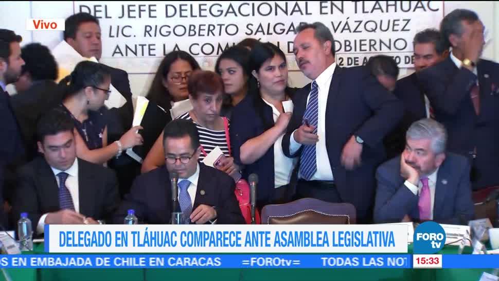 Delegado Tláhuac va antes concluyera comparecencia