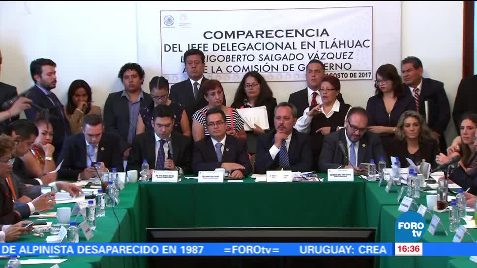 Comparece delegado Tláhuac Asamblea Legislativa Rigoberto
