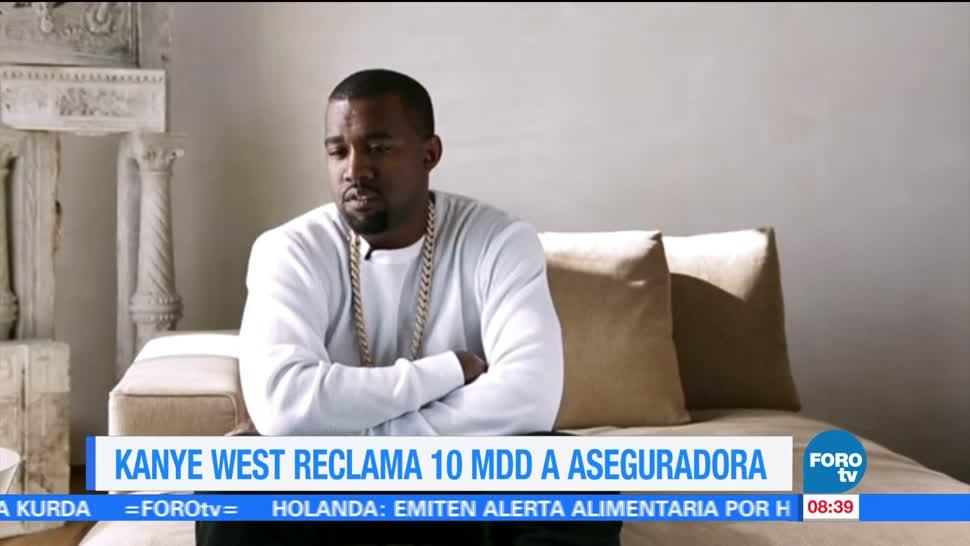 Kanye West Reclama 10 mdd Aseguradora