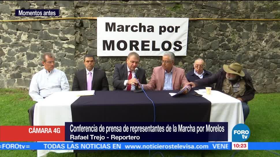 Marcha, Morelos, planea, Segob