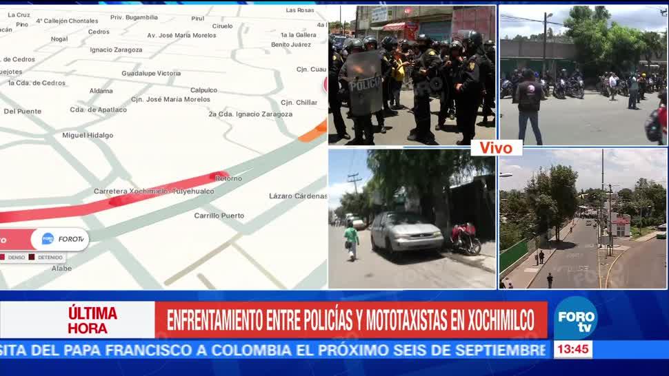 Cierran calles de San Gregorio, Xochimilco, por enfrentamiento