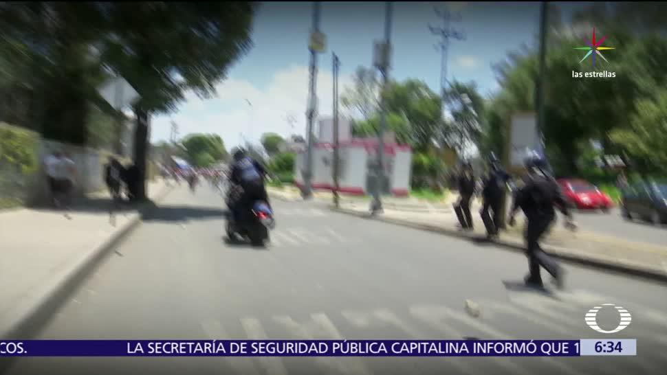 Registran Enfrentamientos Policias Mototaxistas Xochimilco