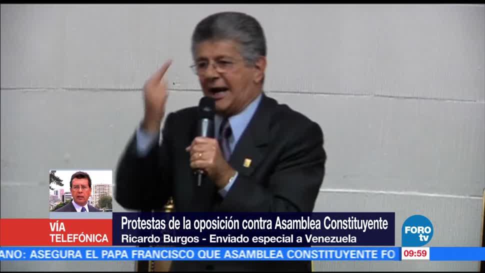 Protesta Oposicion Venezolana Instalacion Asamblea Constituyente